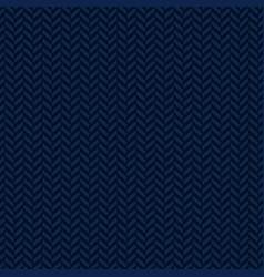 Blue herringbone decorative pattern background vector