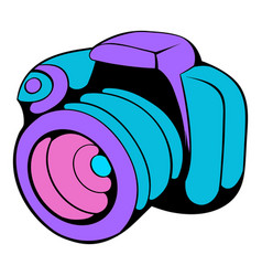Camera icon cartoon vector