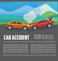 car accident infographics vector image