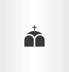 Church or chapel cross icon vector