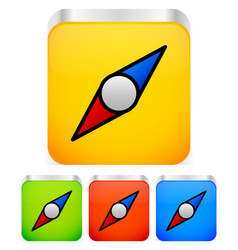 Compass needle icon vector
