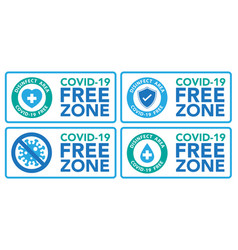 covid19 free zone sigeps10 vector image