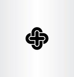 Cross icon black symbol design element vector