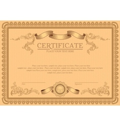 detailed certificate vector image