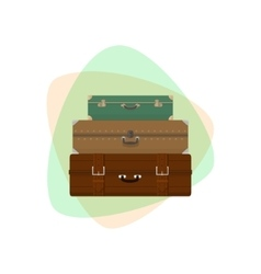Different Retro Suitcases vector image