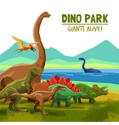Dino Park Poster vector image