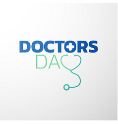Doctors day icon design medical logo vector