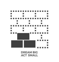 Dream big act small glyph icon vector