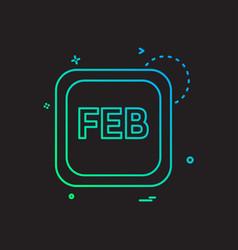 february calender icon design vector image