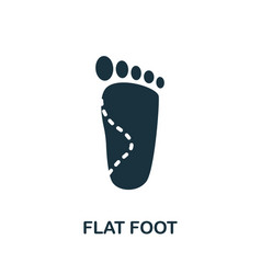 Flat foot icon simple element from trauma vector