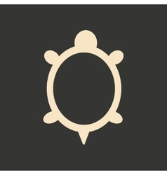 Flat in black and white mobile application turtle vector