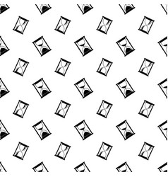 flat seamless pattern with hourglass icons vector image
