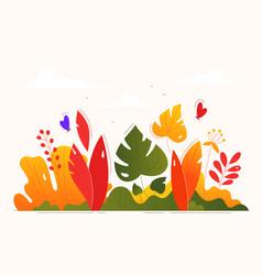 floral composition - modern flat design style vector image
