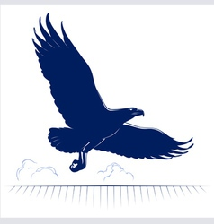 flying eagle vector image