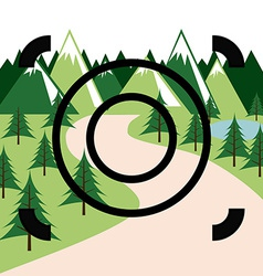 Forest picture vector