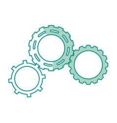 gears engineering mechanical wheel cogs vector image vector image