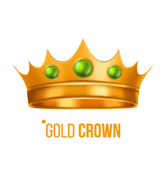 gold crown nobility baroque object vector image