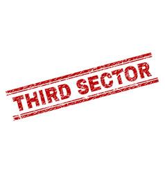 Grunge textured third sector stamp seal vector
