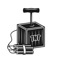 handle detonator box for dynamite object vector image