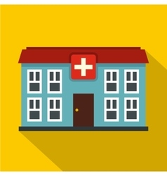Hospital icon flat style vector