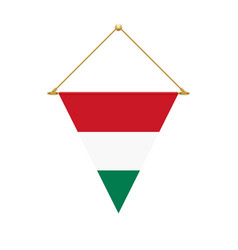hungarian triangle flag hanging vector image