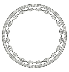 Isolated boho circle design vector