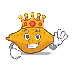King conchiglie pasta mascot cartoon vector