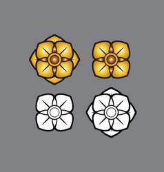 Linethai artthai thailandart flower vector