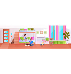 little children playing at at home or kindergarten vector image