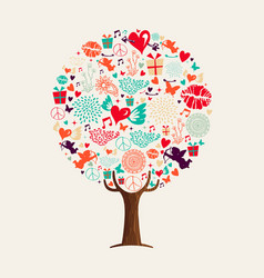love tree concept for valentines day card vector image