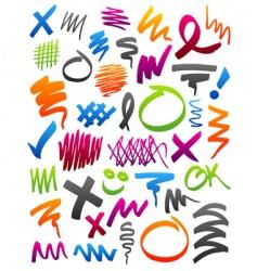 Marker scribbles vector