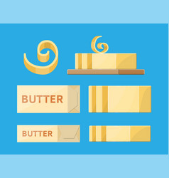 Milk butter in package vector