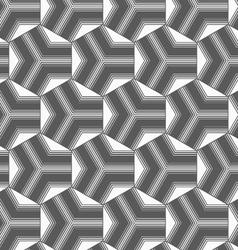 Monochrome gradually striped black tetrapods vector image
