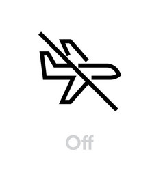 off airplane icon editable outline vector image