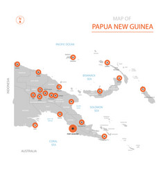 papua new guinea map with administrative divisions vector image