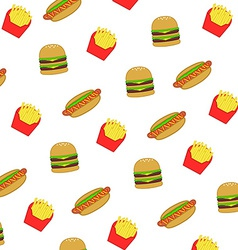 Pattern fast food and junk food vector