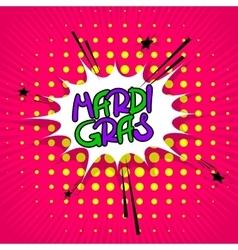 Pink lettering Mardi Gras vector image