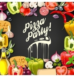 Pizza party vector