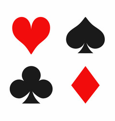 playing card suits isolated on white background vector image