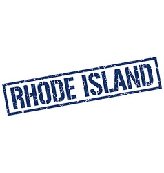 Rhode Island blue square stamp vector