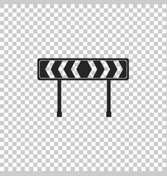 safety barricade symbol icon isolated vector image