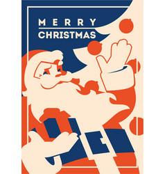 Santa claus with beard minimalistic vector