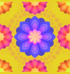 Seamless pattern with mandalas flowers vintage vector