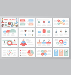 set of medical and healthcare elements for vector image