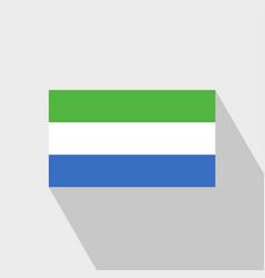 Sierra leone flag long shadow design vector