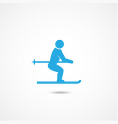 ski man icon vector image