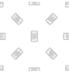 smartphone document pattern seamless vector image
