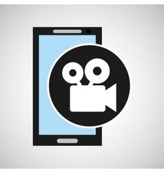 smartphone social media film movie vector image