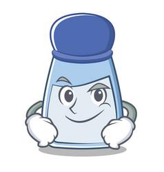 Smirking salt character cartoon style vector