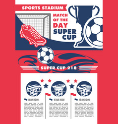 Soccer team football championship poster vector